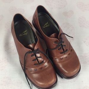 Dansko Leather Lace Up Shoes